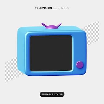 3d 텔레비전 아이콘 디자인 절연