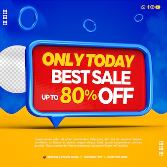 3d text box best sale left blue with up to 80 percentage off