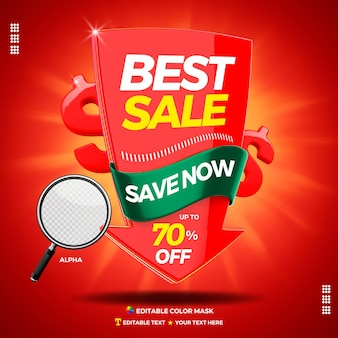 3d text box best sale with arrow save now
