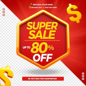 3d text box super sale with up to 80 percentage off