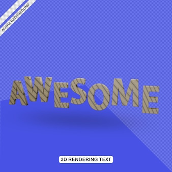 3d text effect awesome render free