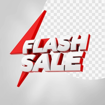 3d text flash sale isolated
