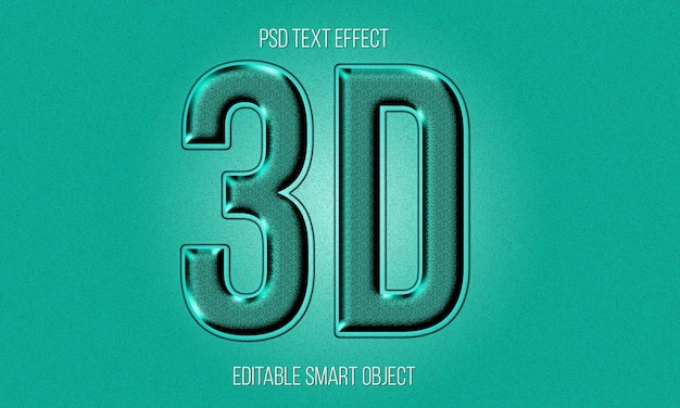 3d text style effect free psd