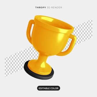 Изолированный 3d-макет иконки thropy