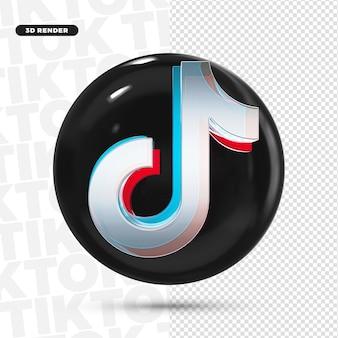Значок 3d tiktok logo для композиции premium psd