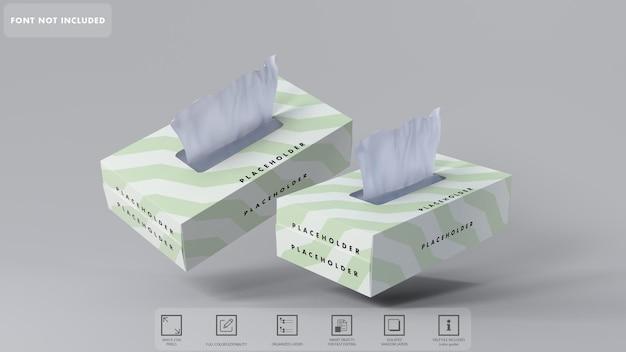 3d tissue box mockup