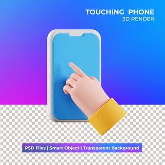Изолированная иллюстрация трогательного телефона 3d
