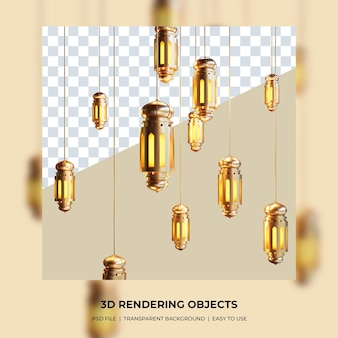초승달 개념 3d 전통적인 램프