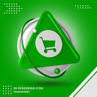 3d trolley rendering icon