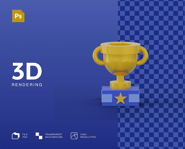 Значок 3d трофей