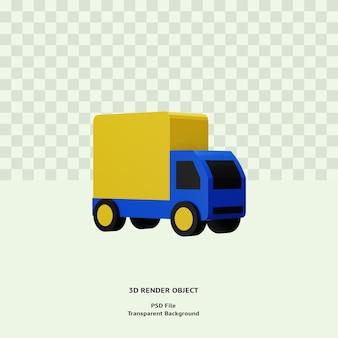 3d визуализация значка доставки грузовика премиум psd