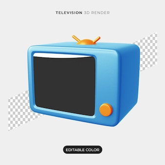 分離された3dテレビアイコンデザイン