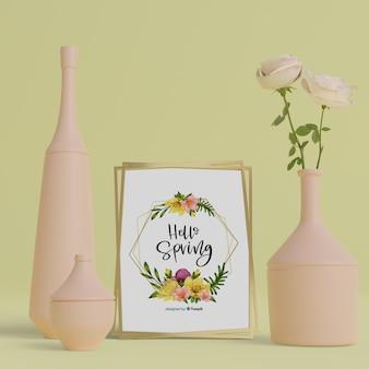 3d花瓶とハロースプリングカード