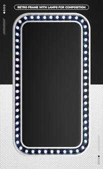 3d vertical retro frame of black led design
