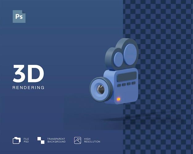 3d video camera illustration Premium Psd