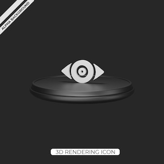 3d view render icon isolated