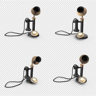分離された3dビンテージ電話モデル