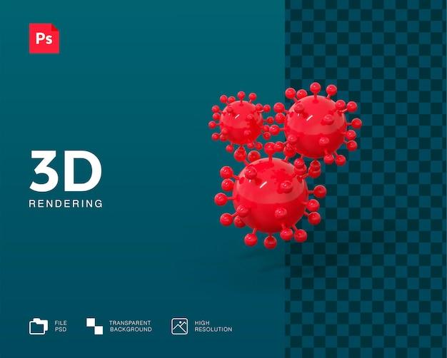 3d вирусная иллюстрация Premium Psd