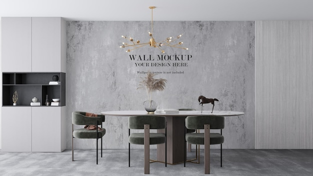 3d visualization modern dining room wall template