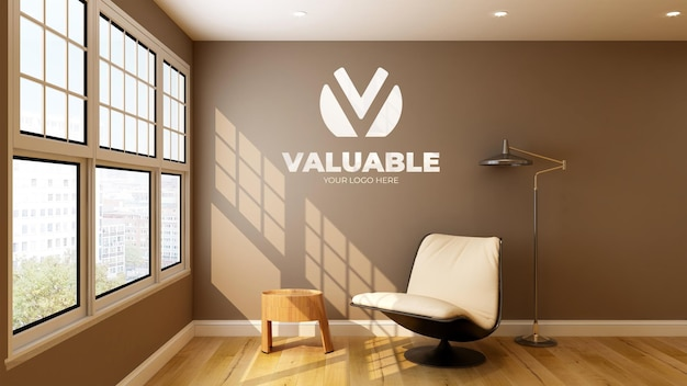 3d wall mockup in living room