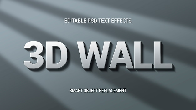 3d wall text effect