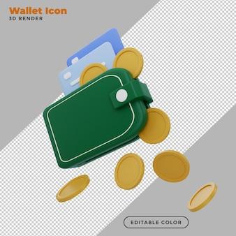 3d кошелек иллюстрация экономия денег