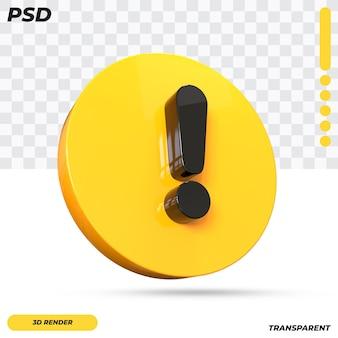 3d предупреждение символ дизайн изолированные