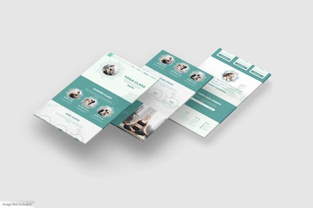 Дизайн макета 3d-дисплея