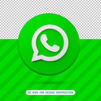 Значок 3d whatsapp в 3d-рендеринге