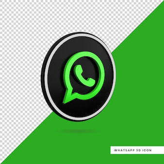 3d whatsapp icon isolated design