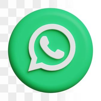 3d whatsapp 아이콘