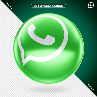 3d логотип whatsapp