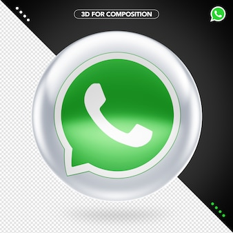 3d whatsapp logo