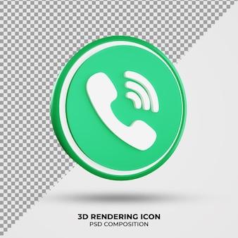 Значок 3d-рендеринга whatsapp