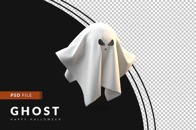 3d концепция хэллоуина белый призрак