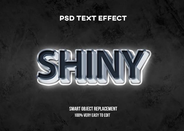 3d белый блестящий эффект текста