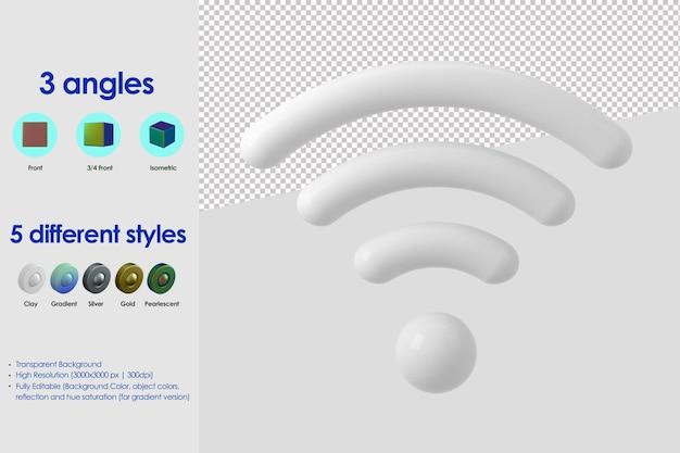 Icona wi-fi 3d
