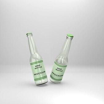 3d макет бутылки вина