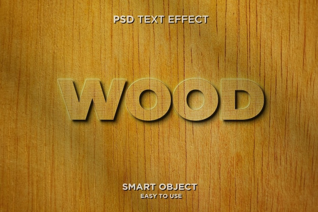 3d 나무 텍스트 효과 템플릿