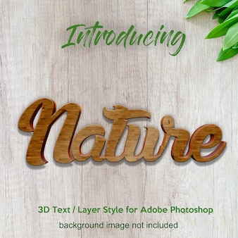 3d wood timber board photoshop layer style text effects