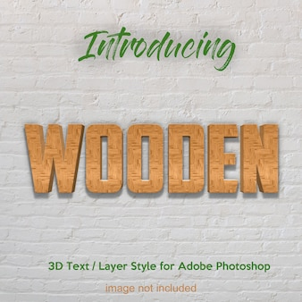 3d wood timber plank textured photoshop layer style text effects