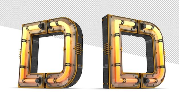 3d деревянный алфавит с неоновым светом