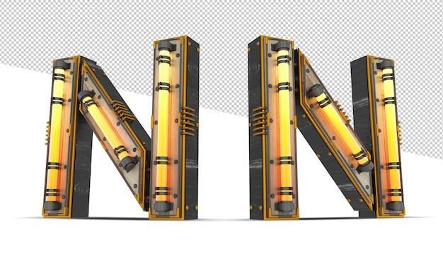 ネオンの光の効果を持つ3 d木製アルファベット