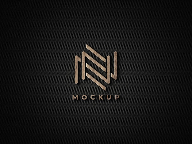 3d дизайн макета деревянного логотипа