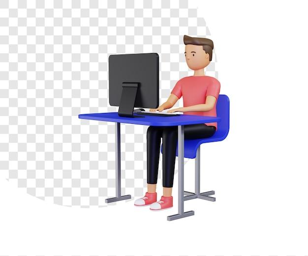 컴퓨터로 작업하는 3d