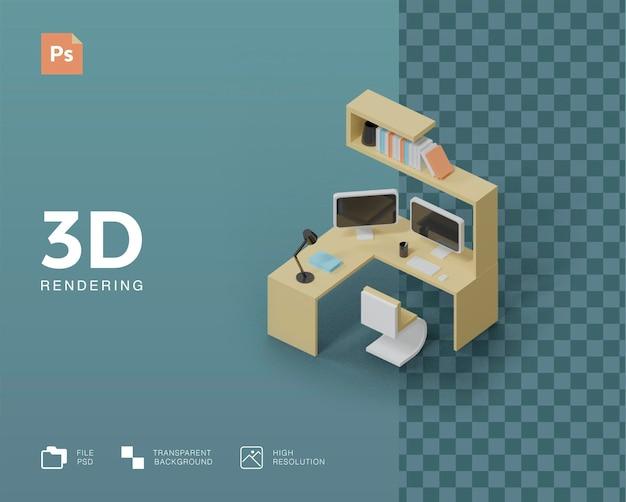 3d иллюстрации рабочего пространства
