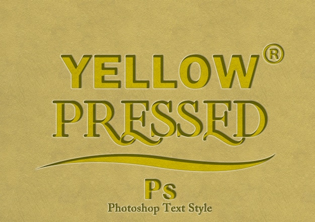 3d yellow text style effect