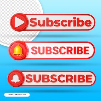 Рендеринг кнопки подписки на youtube