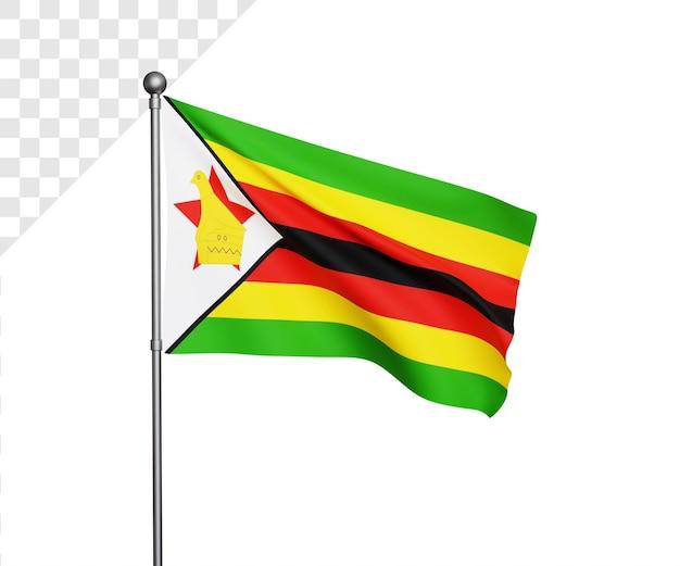 3d 짐바브웨 국기 그림