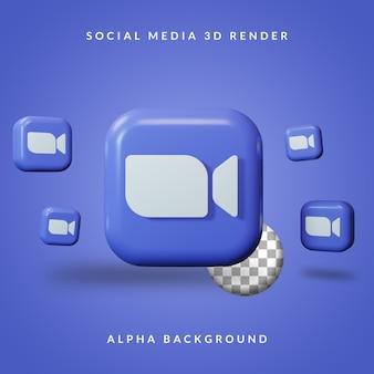 Логотип приложения 3d zoom с альфа-фоном